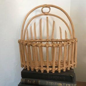 Vintage | Wooden Hanging Wall Basket